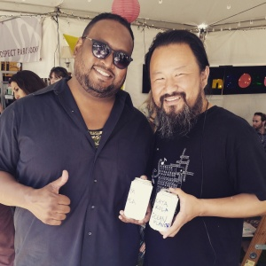 LA Poets F. Douglas Brown and Chiwan Choi at the LA Times Festival of Books 2015
