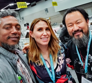 with Peter Woods and Chiwan Choi at AWP19