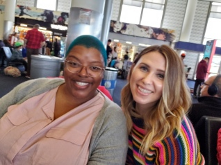 with poet Bridgette Bianca at LAX